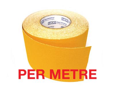 100mm Anti-Slip Tape YELLOW - PER METRE