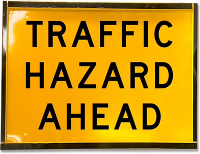 1200x900 Box Section TRAFFIC HAZARD AHEAD