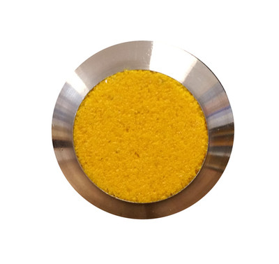 Stainless Tactile Stud YELLOW GRIT - SPIGOT 6x15mm