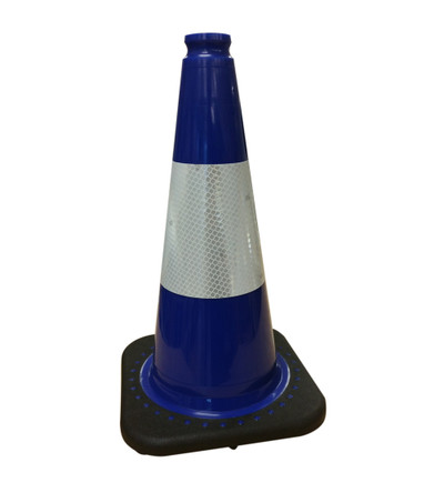 450mm BLUE Traffic Cone c/w 3M REFLECTIVE
