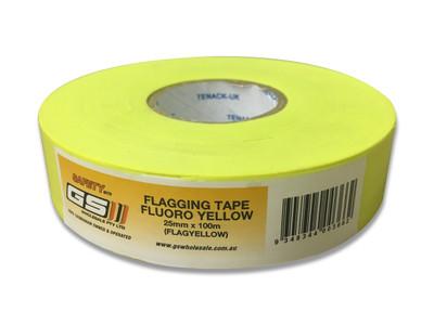 Flagging Tape Fluoro YELLOW 25mm x 100m