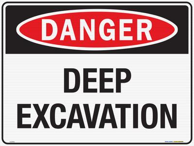 DANGER DEEP EXCAVATION  600x450 CORF