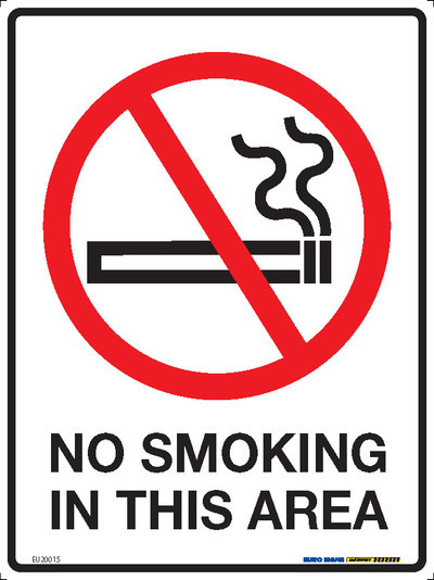 NO SMOKING IN THIS AREA 225x300 MTL