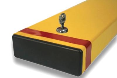 Fold down bollard 150 x 50 x 800mm (80mm down) – KEY lockable (+padlock)