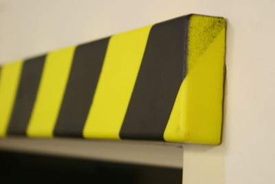 Polyurethane Anti collision strip 1m black and yellow -Rectangular- profile