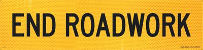 END ROADWORK 1200x300 Corflute HI-INT BLK/YLW