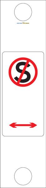 BOLLARD SIGN NO STANDING 300x1215 Corflute