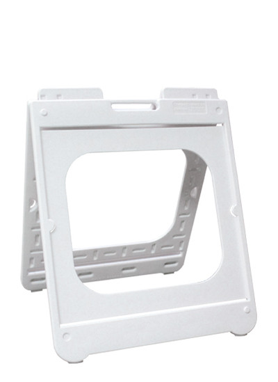 A FRAME D/SIDED 610x610 PLASTIC WHT -Simpo Square-