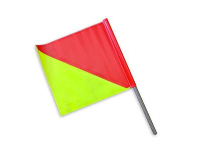 Oversize Flag HALF/HALF 450x450 c/w DOWEL - STRONG VINYL