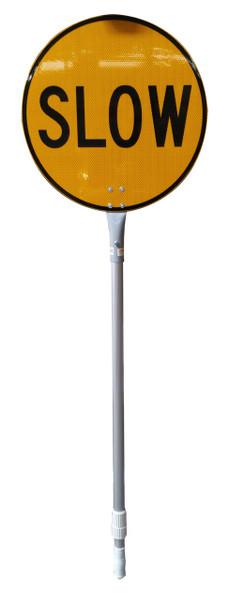 STOP / SLOW BAT 450mmDIA - ALUM HANDLE