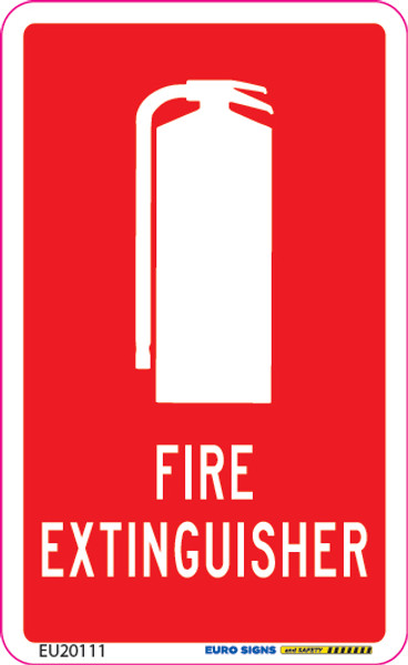 FIRE EXTINGUISHER 55x90 DECAL