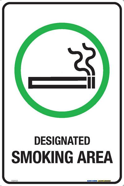DESIGNATED SMOKING AREA 300x450 MTL