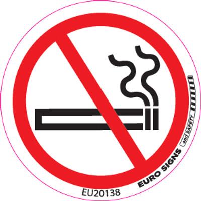 NO SMOKING 50MM DIA DECAL
