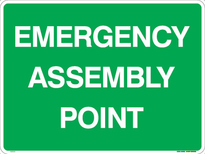 EMERGENCY ASSEMBLY POINT 600x450 ALUM