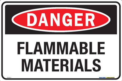 DANGER FLAMMABLE MATERIALS 450x300 MTL