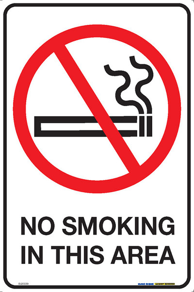 NO SMOKING IN THIS AREA 300x450 MTL
