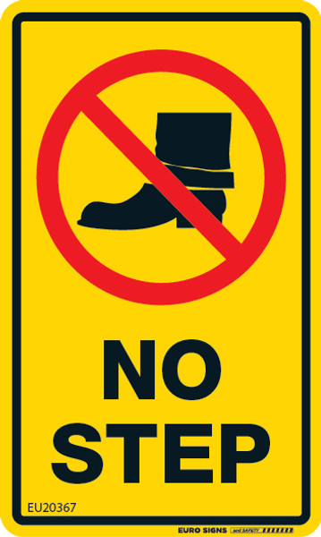 NO STEP 60x100 DECAL