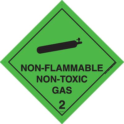 Class Label NON FLAM NON TOXIC GAS 2 100x100 DECAL