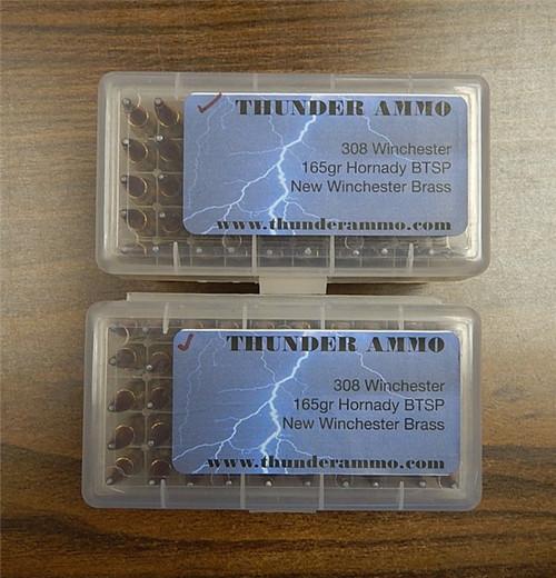 308 Winchester Brass Hornady 165 gr BTSP 100 Rounds