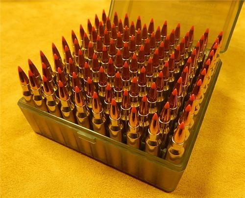 223 50gr Hornady V-MAX Lake City Brass 100 Rounds