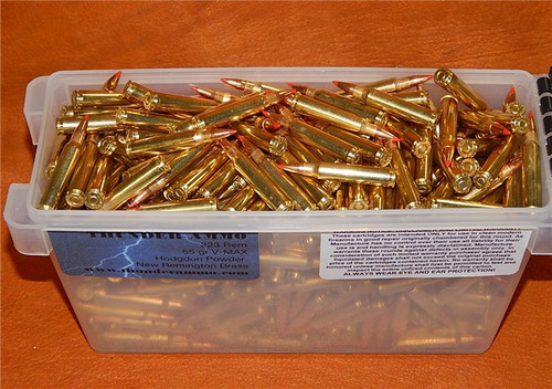 223 55gr Vmax in New Remington Brass 5.56x45 500 Rounds