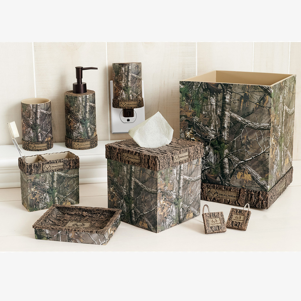 Camo Bathroom Rugs: Realtree Xtra Camo Bath Set Accessories