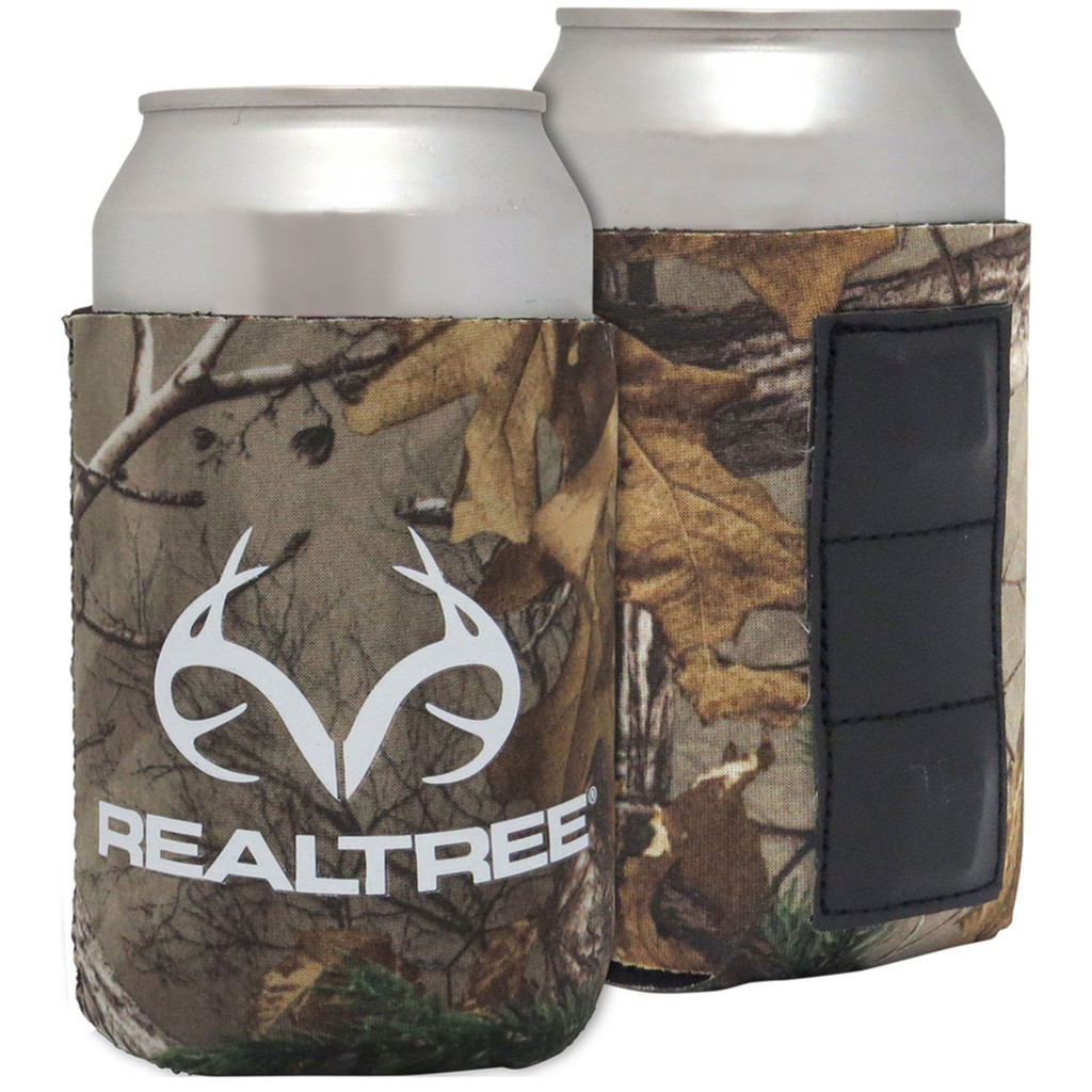 realtree magnetic antler logo can koozie in xtra colors camo koozies