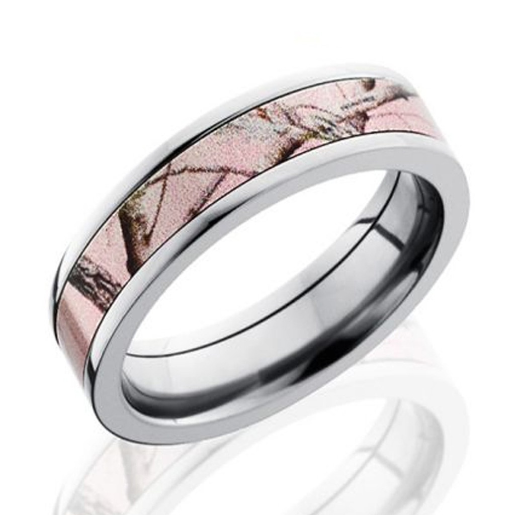 Pink Camo Wedding Bands Realtree Camo Wedding Rings Made in USA