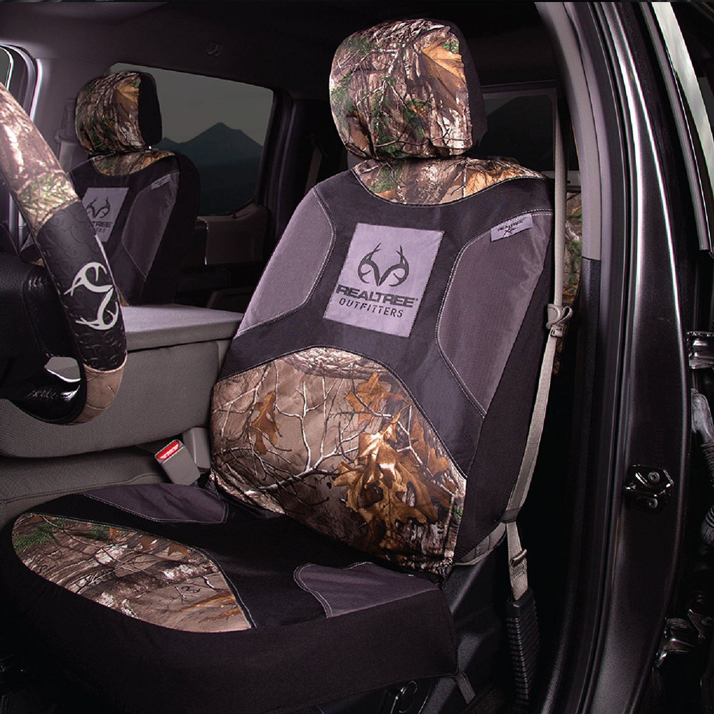Realtree Xtra Lowback Seat Cover in use