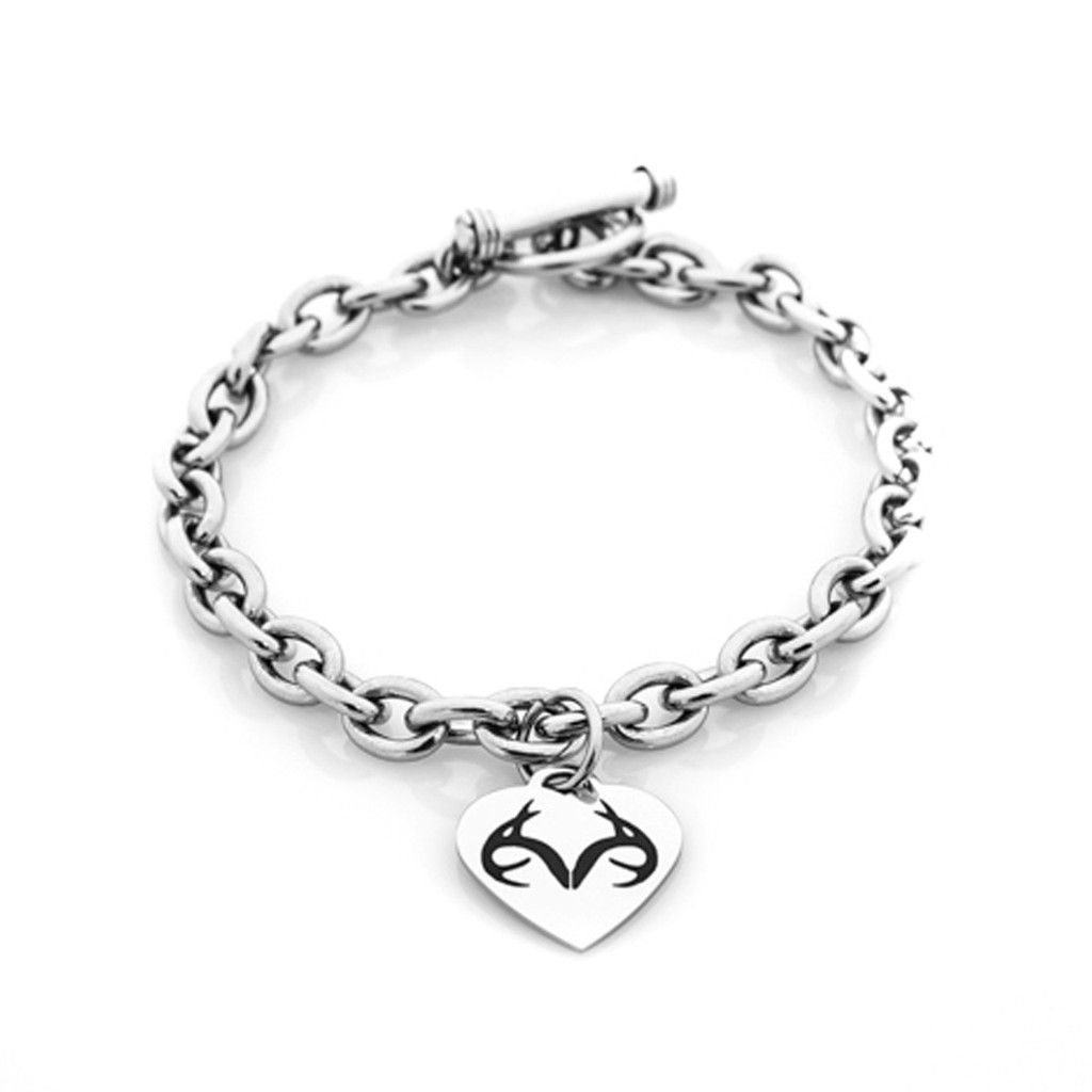 heart zirconia cubic heavy weight link charm cz rolo czir silver sterling toggle bracelet puffed