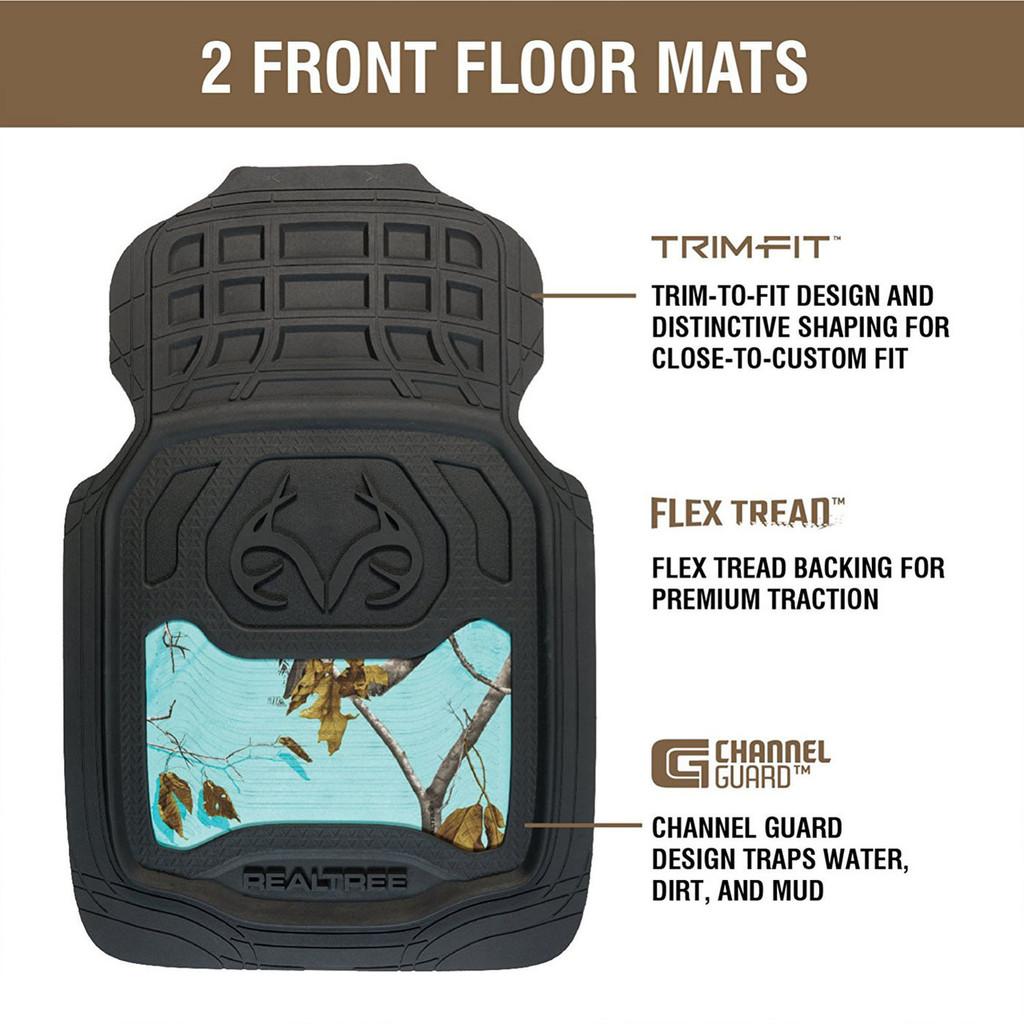 Realtree Mint Front Floor Mats Camo Mint Truck Mats