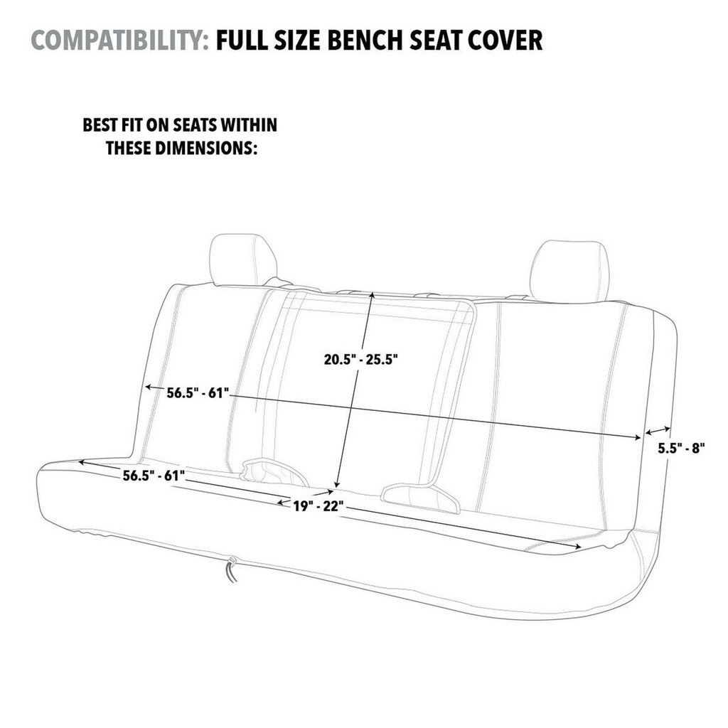Realtree Mint Camo Switch Back Bench Seat Cover  Size CHart