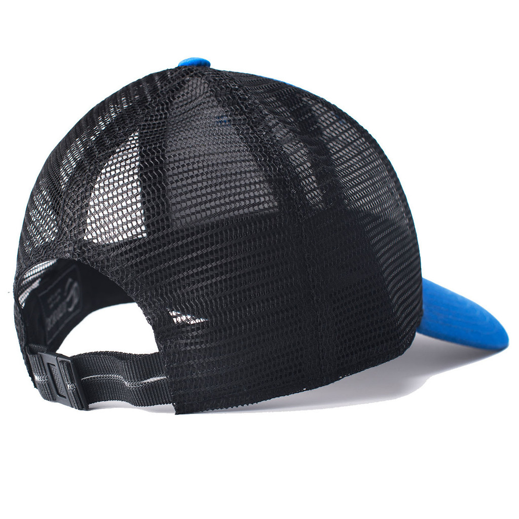 Fishing Blue RipStock Mesh Back Hat Backing