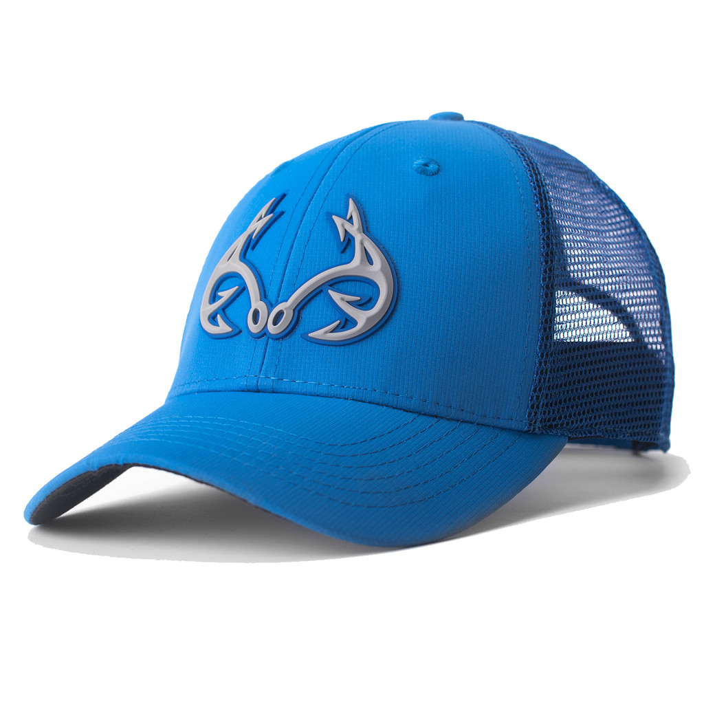 Realtree Fishing 3d Logo Blue Hat Realtree Mesh Back