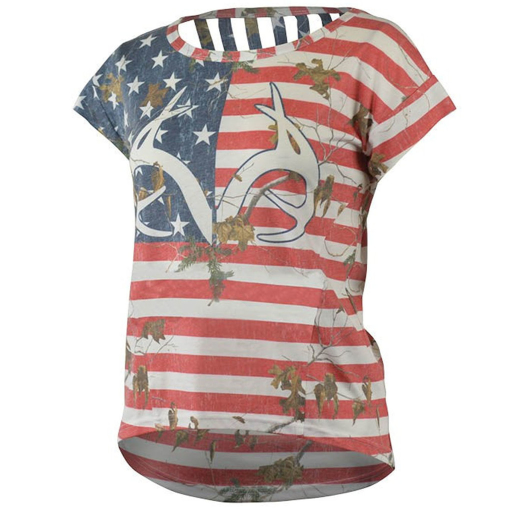 Realtree Women's Camo Independence Tee