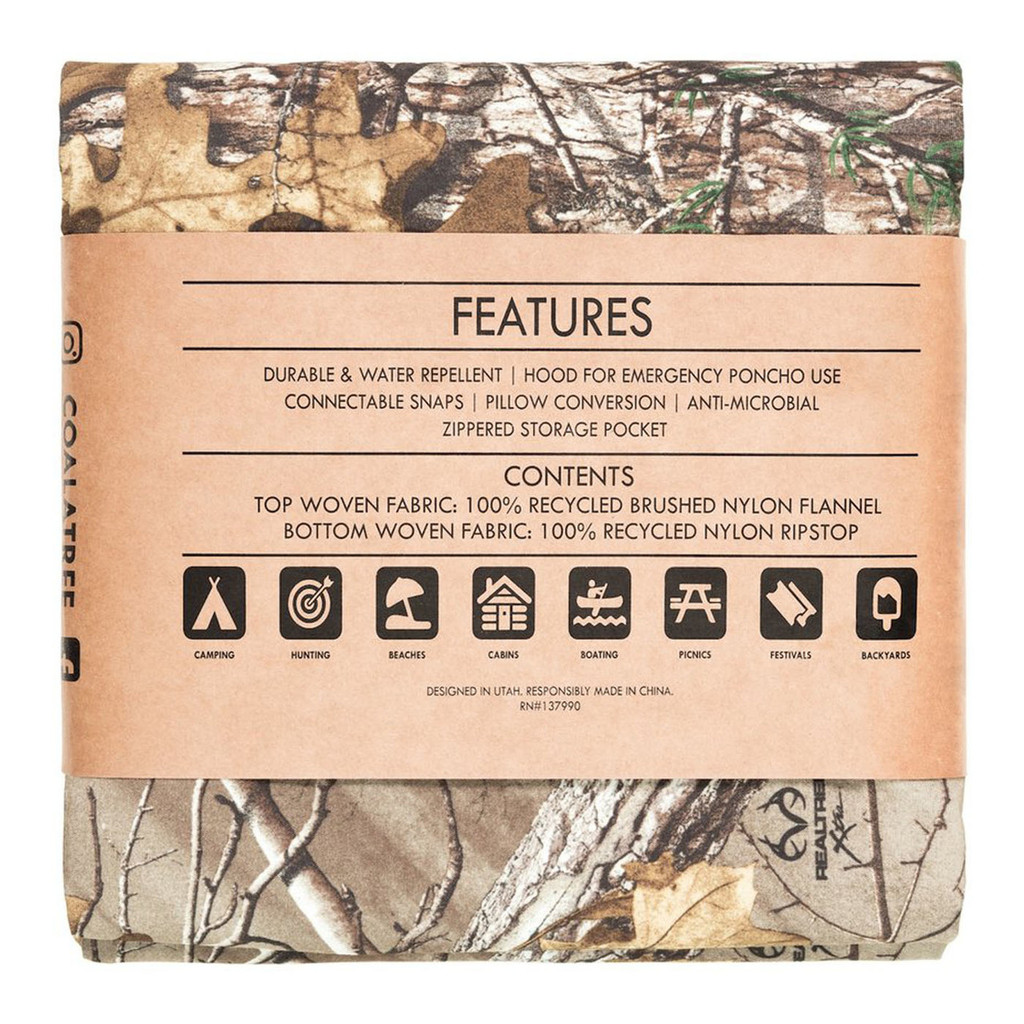 Realtree Xtra Kachula Adventure Blanket Back