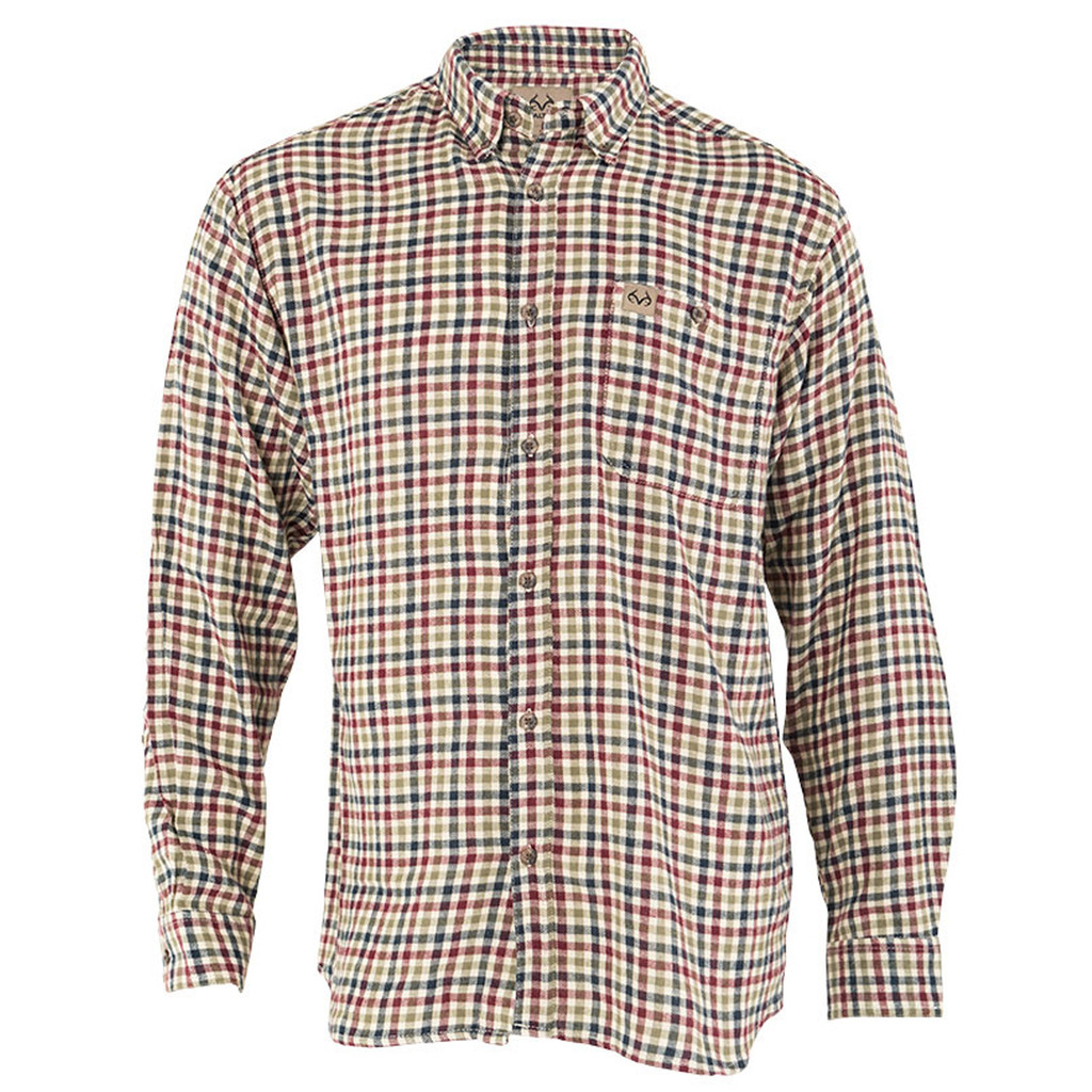 Men's Red Checkered Flannel Shirt