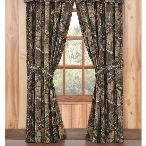 Realtree Camo Window Drapes in Xtra