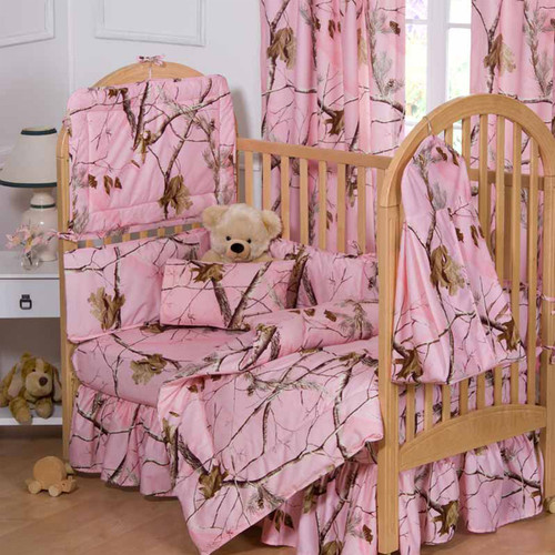 Realtree Crib 3-Piece Sets in AP Pink