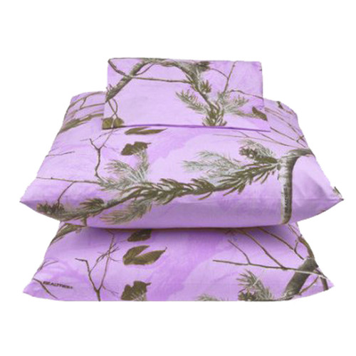 Realtree AP Lavender Camo Bedding Sheet Sets