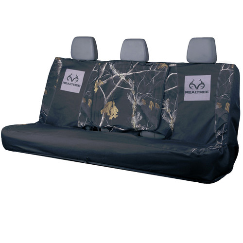 Realtree Switch Back Black Bench Seat Cover Image