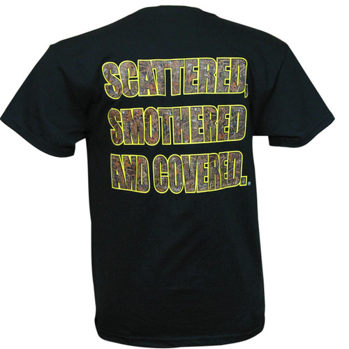 Waffle House Max-5 Scattered, Smothered and Covered T-Shirt in Black View