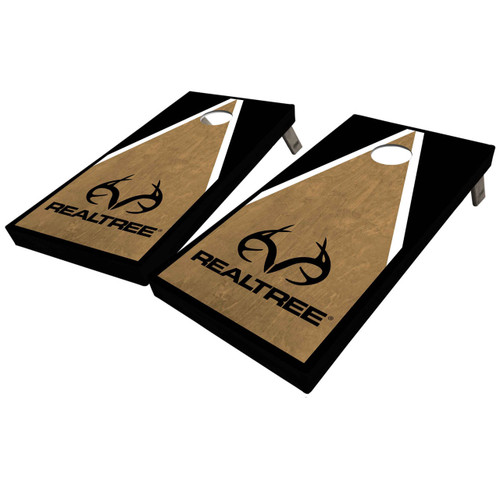 Realtree Classic Triangle Antler Logo Cornhole Boards