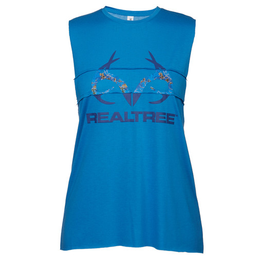 Realtree Women's Blue Muscle Tank