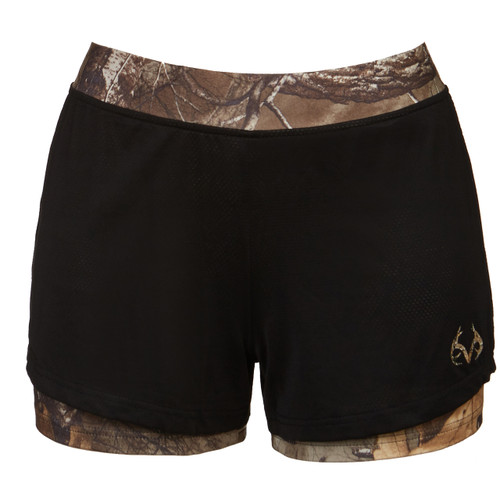 Realtree Women's Xtra Camo Active Running Shorts