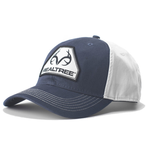Realtree Navy Antler Logo Patch Hat