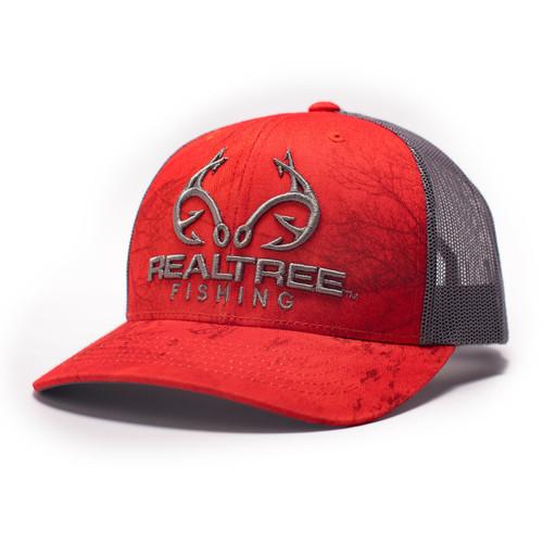 Realtree Logo Green Fishing Pattern Hat Realtree Mesh