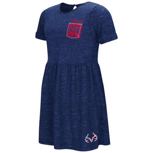 Girl's Realtree Girl Soft Knit Navy Dress
