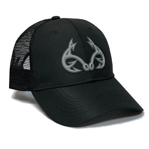 Realtree Fishing 3D Logo Black Hat