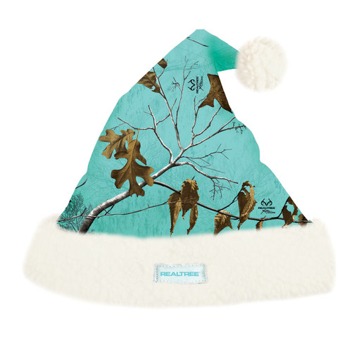 Realtree Xtra Mint Camo Santa Hat